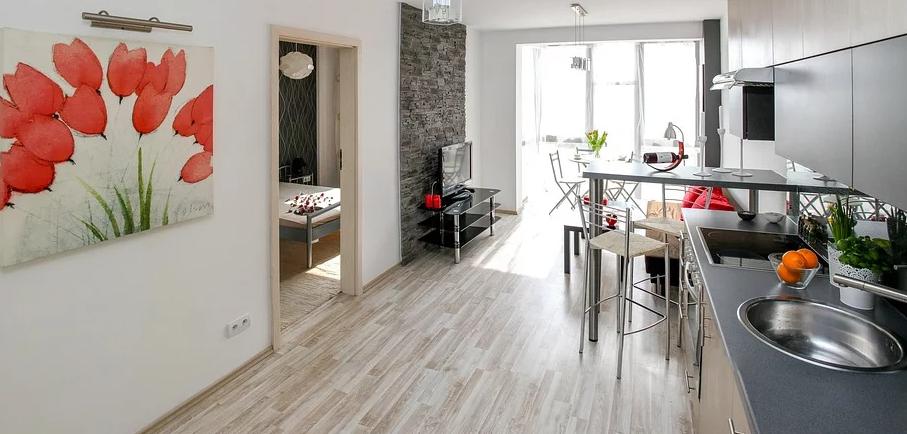 Wohnung mit Möbeln
